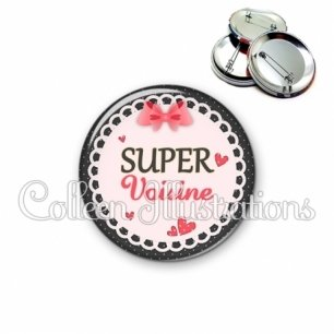Badge 56mm Super voisine (005ROS01)