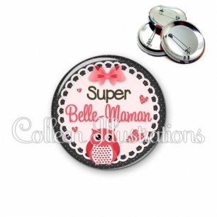 Badge 56mm Super belle-maman (005ROS02)