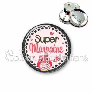 Badge 56mm Super marraine (005ROS02)