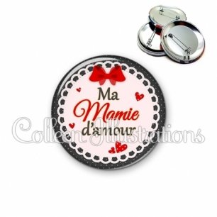 Badge 56mm Mamie d'amour (005ROU01)