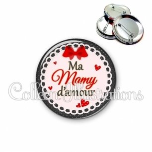 Badge 56mm Mamy d'amour (005ROU01)