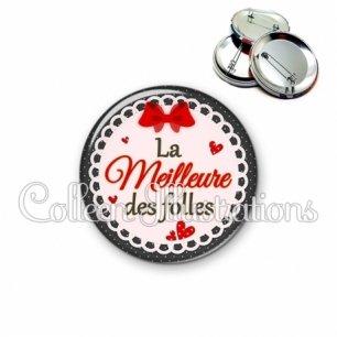 Badge 56mm Meilleure des folles (005ROU01)