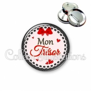 Badge 56mm Mon trésor (005ROU01)