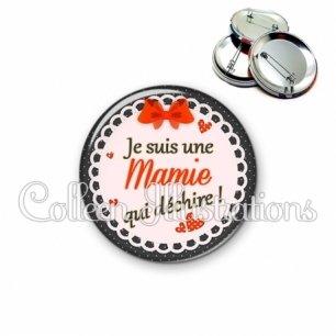Badge 56mm Mamie qui déchire (005ROU05)
