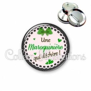 Badge 56mm Maroquinière qui déchire (005VER03)