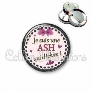 Badge 56mm ASH qui déchire (005VIO01)