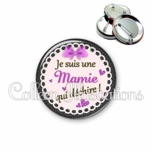 Badge 56mm Mamie qui déchire (005VIO03)