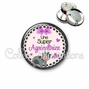 Badge 56mm Super agricultrice (005VIO05)