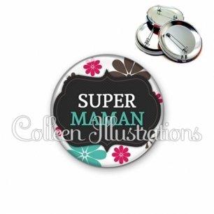 Badge 56mm Super maman (006BLA02)