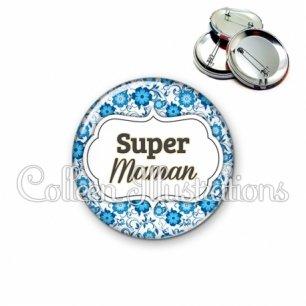 Badge 56mm Super maman (006BLE02)