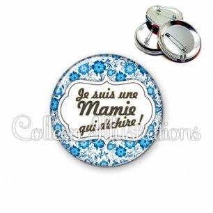 Badge 56mm Maman qui déchire (006BLE02)