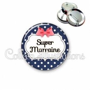 Badge 56mm Super marraine (006BLE06)