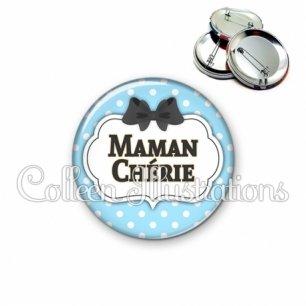 Badge 56mm Maman chérie (006BLE08)
