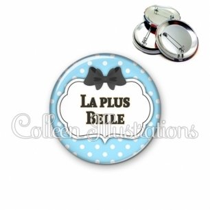 Badge 56mm La plus belle (006BLE08)
