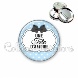 Badge 56mm Tata d'amour (006BLE08)