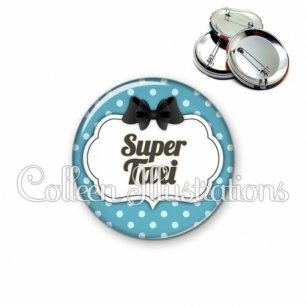 Badge 56mm Super taxi (006BLE12)