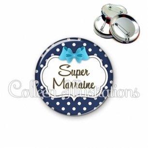 Badge 56mm Super marraine (006BLE16)