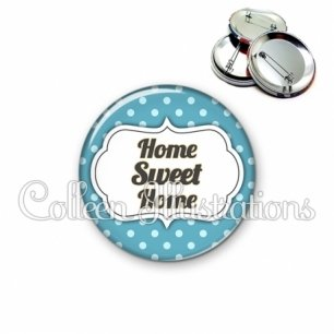 Badge 56mm Home sweet home (006BLE23)