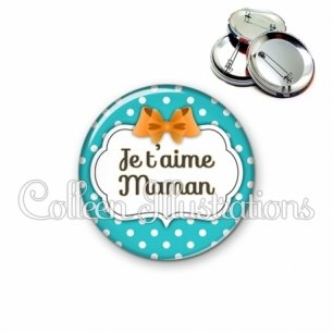 Badge 56mm Mamam je t'aime (006BLE24)