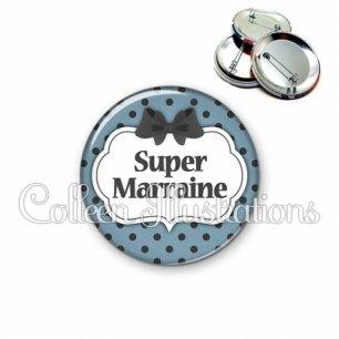 Badge 56mm Super marraine (006BLE25)
