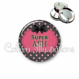 Badge 56mm Super ASH (006GRI01)