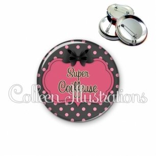 Badge 56mm Super coiffeuse (006GRI01)
