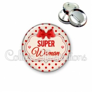 Badge 56mm Super woman (006MAR03)