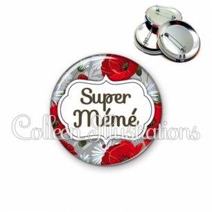 Badge 56mm Super mémé (006MUL02)
