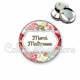Badge 56mm Merci maîtresse (006MUL03)