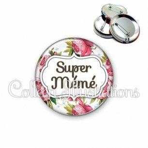 Badge 56mm Super mémé (006MUL09)