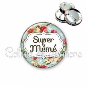 Badge 56mm Super mémé (006MUL10)