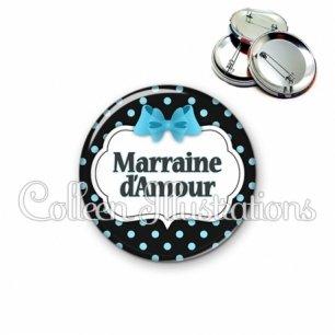 Badge 56mm Marraine d'amour (006NOI05)