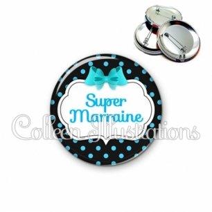 Badge 56mm Super marraine (006NOI05)