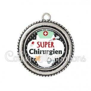 Pendentif résine Super chirurgien (002NOI01)