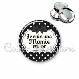 Badge 56mm Mamie en or (006NOI16)
