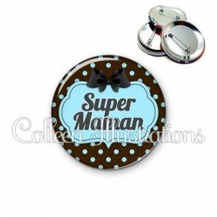 Badge 56mm Super maman (006NOI18)