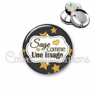 Badge 56mm Sage comme une image (006NOI20)