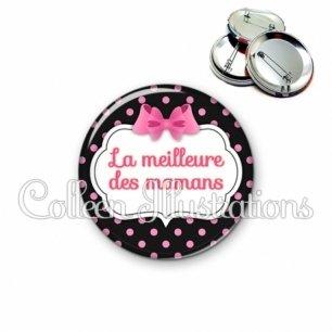 Badge 56mm Meilleure maman (006NOI21)