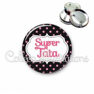 Badge 56mm Super tata (006NOI23)