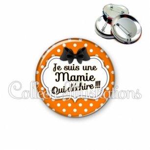 Badge 56mm Mamie qui déchire (006ORA03)