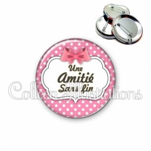 Badge 56mm Amitié sans fin (006ROS02)