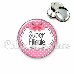 Badge 56mm Super filleule (006ROS02)