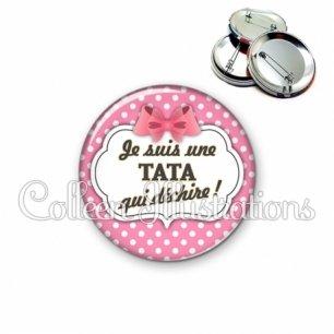 Badge 56mm Tata qui déchire (006ROS02)