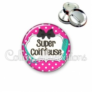 Badge 56mm Super coiffeuse (006ROS04)