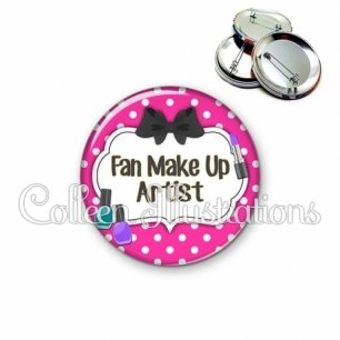 Badge 56mm Fan make up artist (006ROS04)