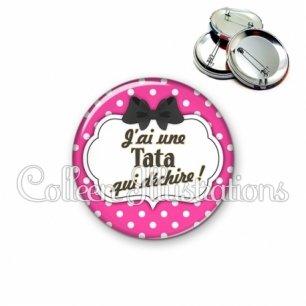 Badge 56mm Tata qui déchire (006ROS04)
