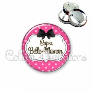 Badge 56mm Super belle-maman (006ROS06)