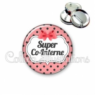 Badge 56mm Super co-interne (006ROS10)