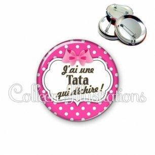 Badge 56mm Tata qui déchire (006ROS11)