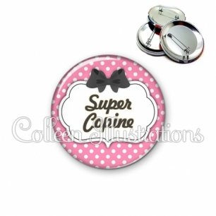 Badge 56mm Super copine (006ROS12)
